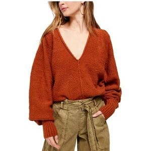 NWOT Free People Oversized Cropped Sweater